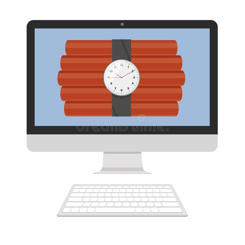 Dinamita en la pantalla stock de ilustración