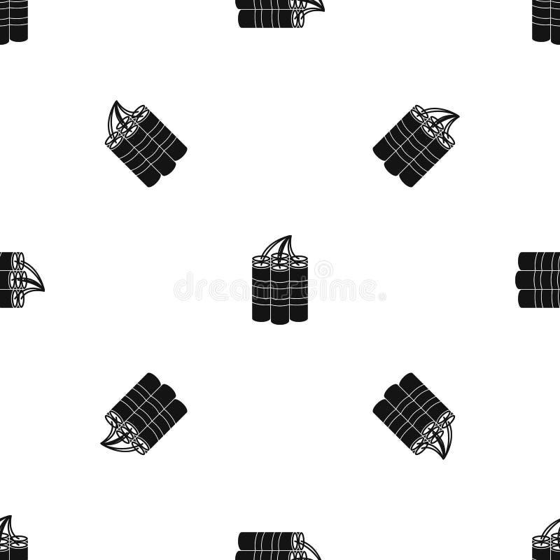 A dinamite cola o preto sem emenda do teste padrão ilustração royalty free
