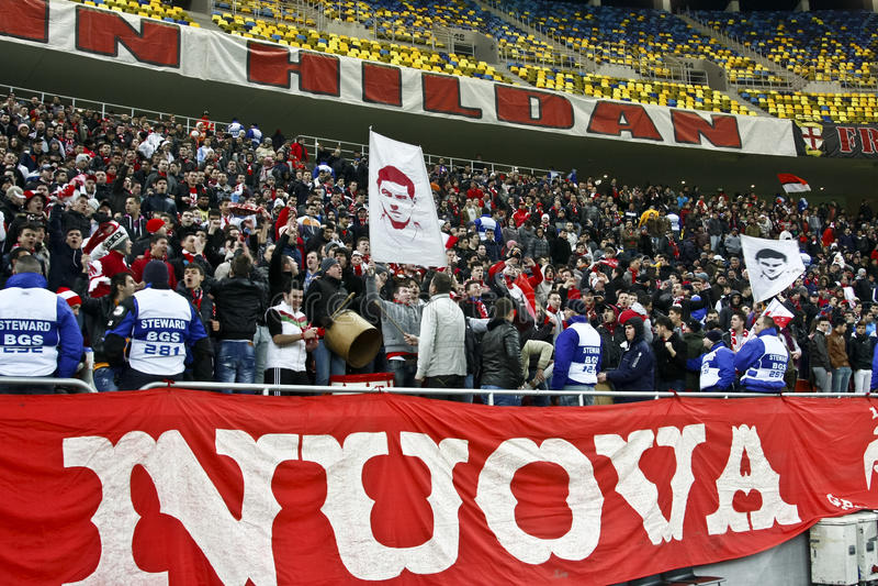 Dinamo Bucareste - media de Gaz Metan imagem de stock royalty free