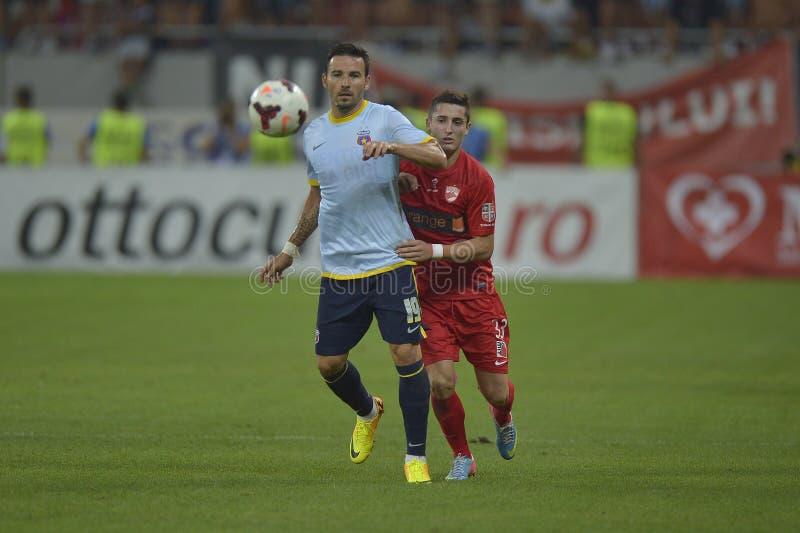 Dinamo Bucareste - Steaua Bucareste, derby romeno do futebol fotos de stock royalty free