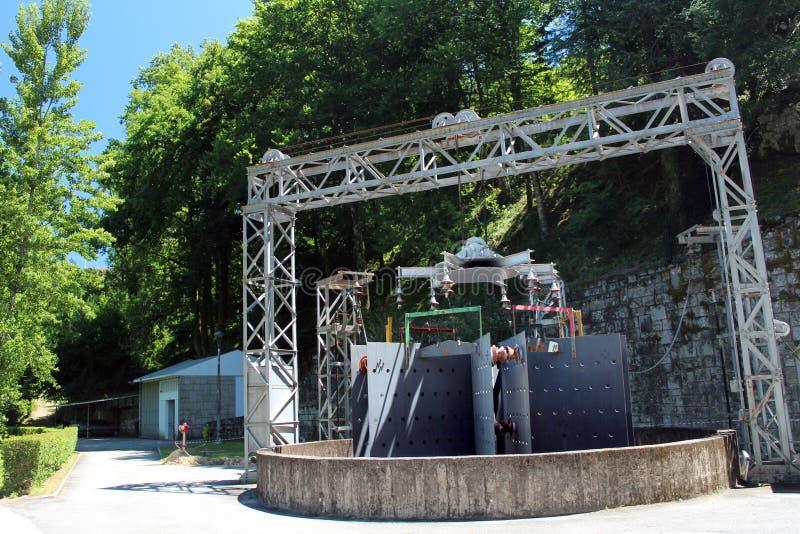 Dinamo della centrale idroelettrica fotografie stock libere da diritti