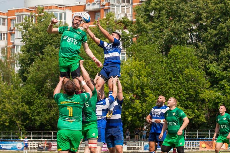 Dinamo della partita di rugby - Zelenograd immagini stock