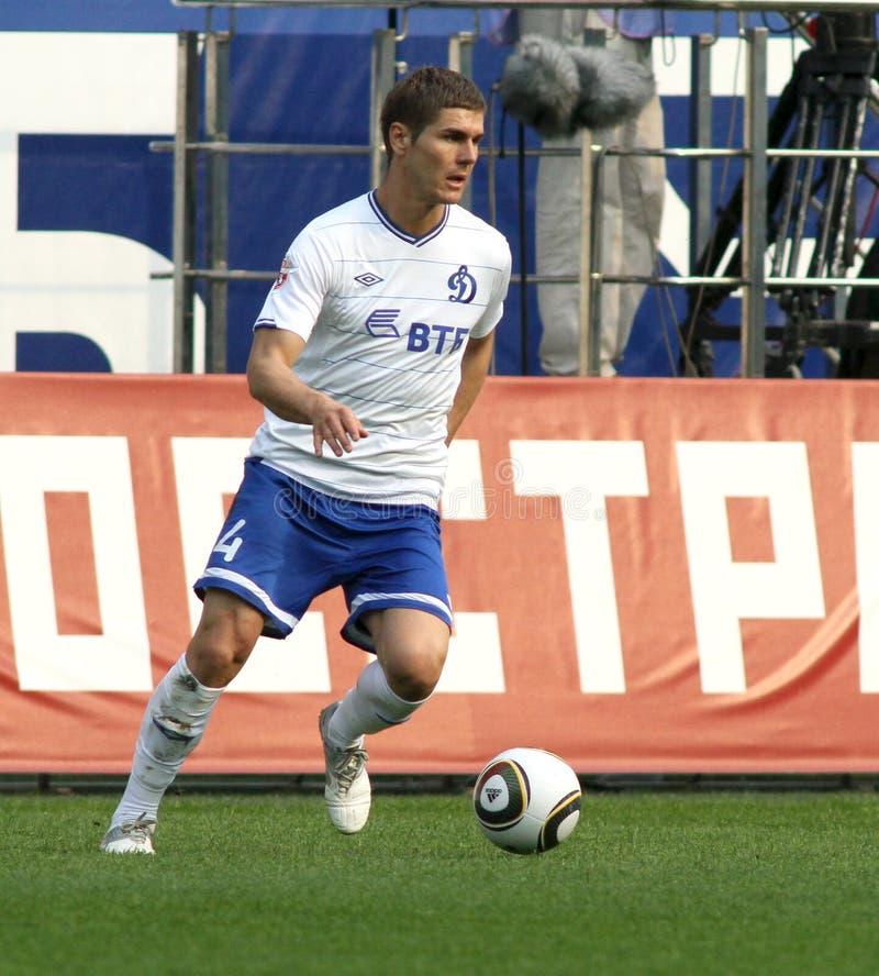 Dinamos Verteidiger Marcin Kowalczyk stockfoto