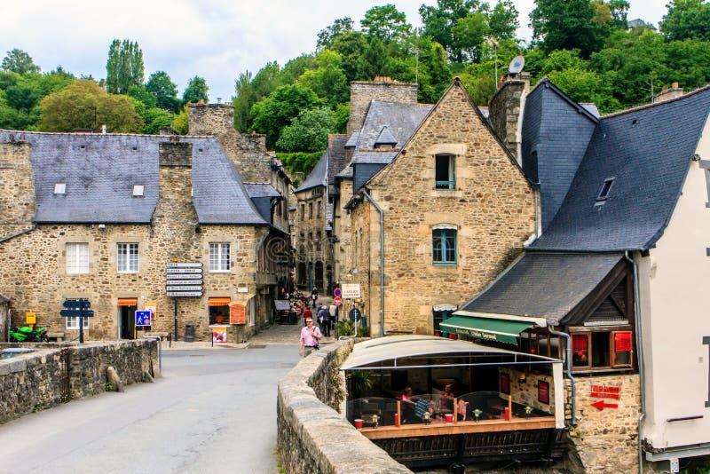 Dinan, Бретань, Франция стоковое фото rf