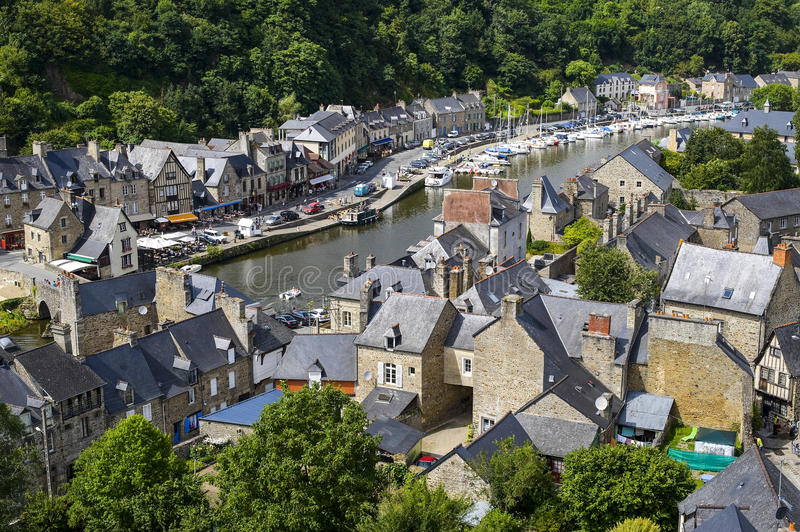 Download Dinan stock image. Image of outdoor, houses, roofs, armor - 26970277