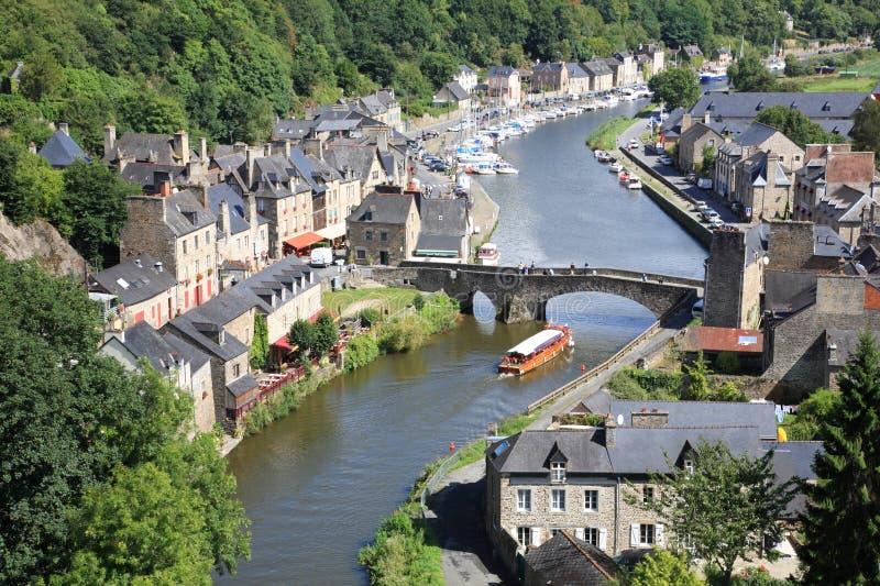 Dinan auf dem Rance, Bretagne, Frankreich stockfoto