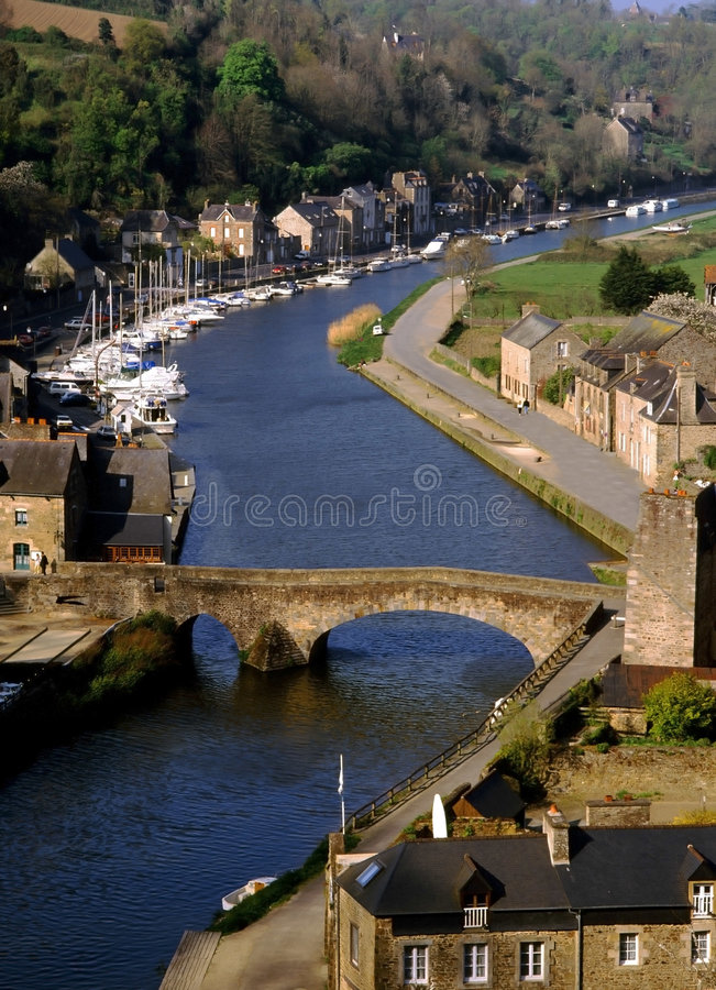 Dinan brittany photographie stock