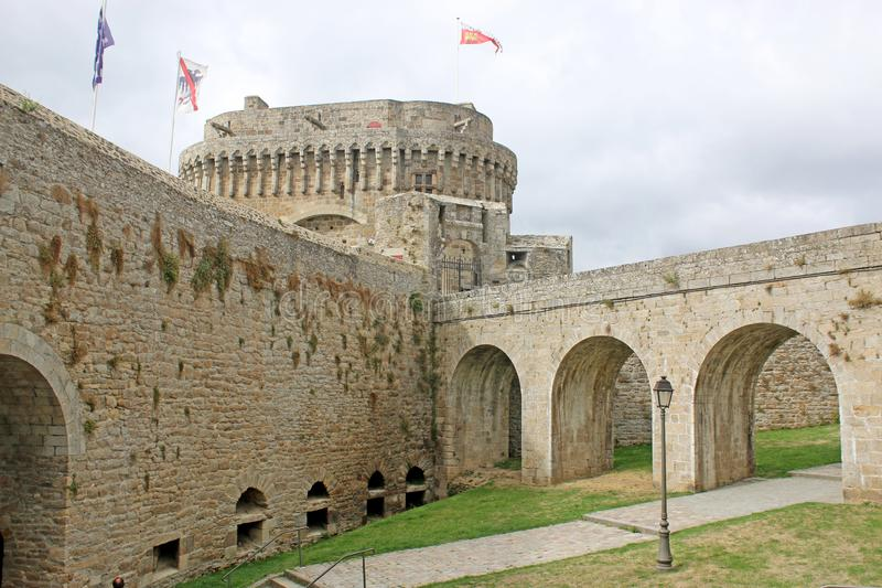 Dinan Castle, Frankrijk stock fotografie