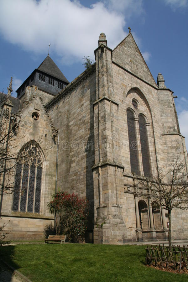 Dinan Cathedral imagen de archivo libre de regalías