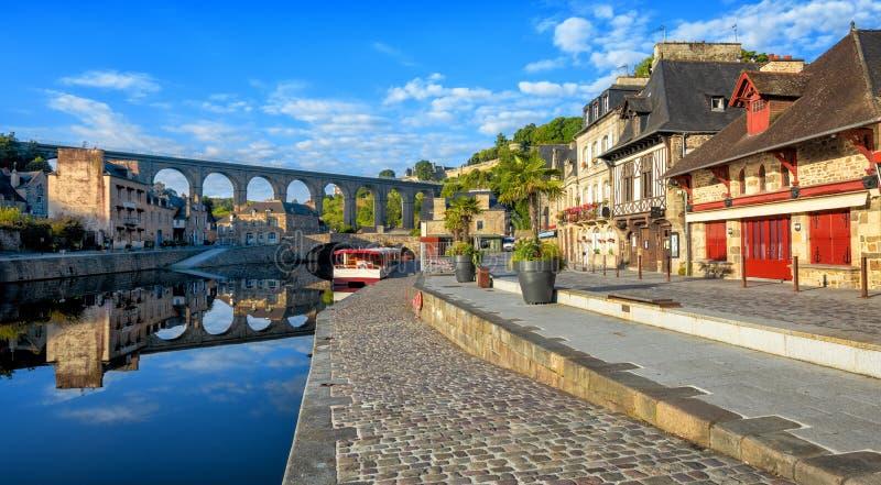 Dinan harnesk för skjul D ', Brittany, Frankrike arkivbilder