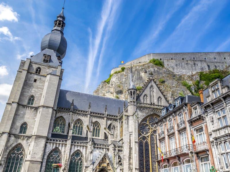 Dinant beautiful old architecture, Belgium stock photos