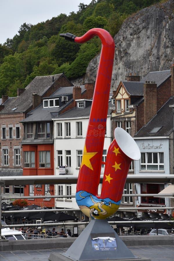 Dinant, hometown of Adolphe Sax royalty free stock photos