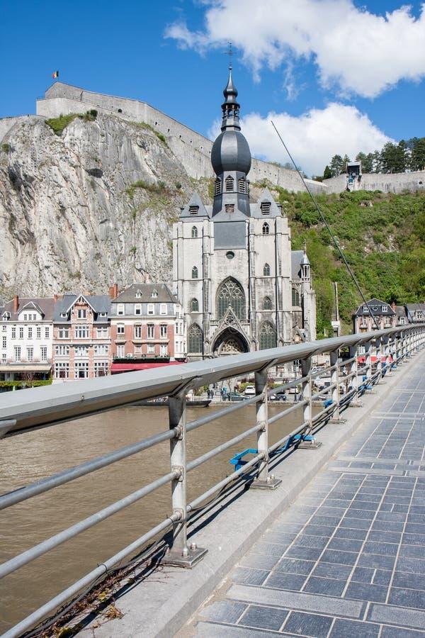Dinant na Bélgica Ardennes imagem de stock royalty free