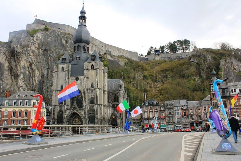 Beautiful little town - Dinant, Belgium stock photo