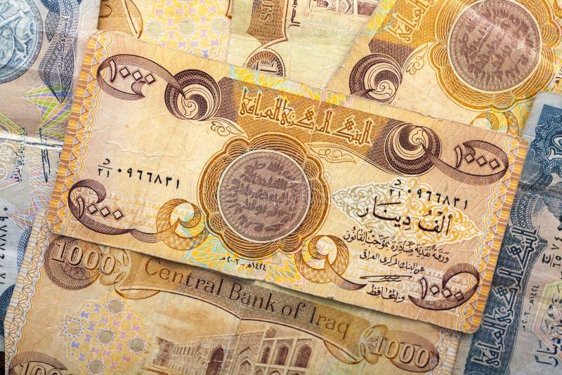 Dinar av Irak royaltyfri bild
