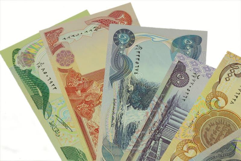 Dinar de Iraque imagem de stock