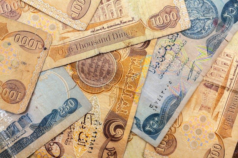 Dinar de Iraque foto de stock