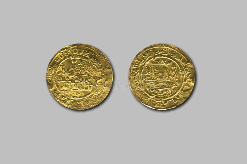 Dinar från den Cordoba kalifatperioden, Hisam II regel, AC 1011 arkivfoto