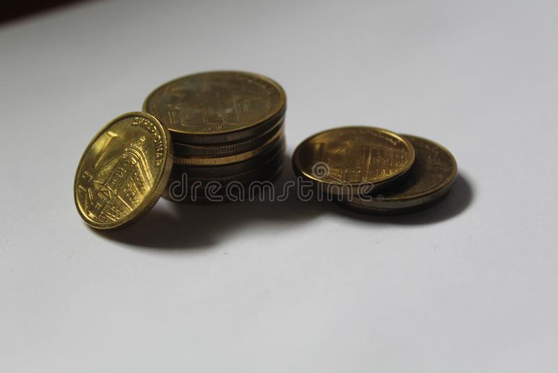 Dinar, Servische muntmuntstukken rsd royalty-vrije stock afbeelding