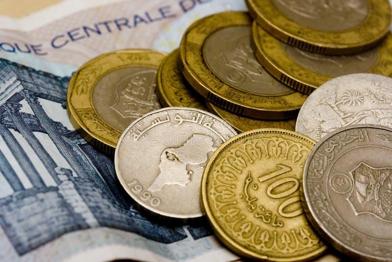 Dinari tunisini fotografie stock
