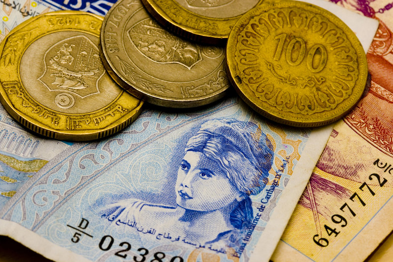 Dinari tunisini immagine stock