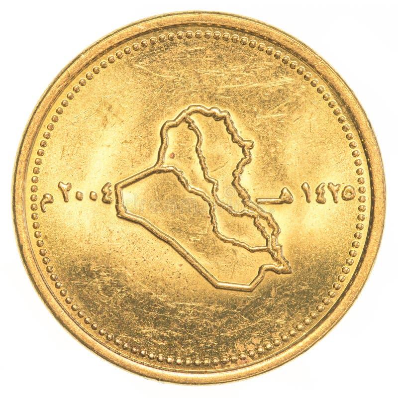 50 dinars irakiens de pièce de monnaie image stock