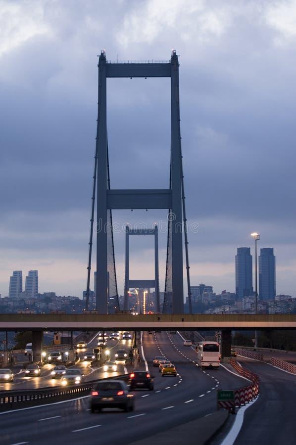 dinde d'Istanbul de passerelle de bosporus images stock
