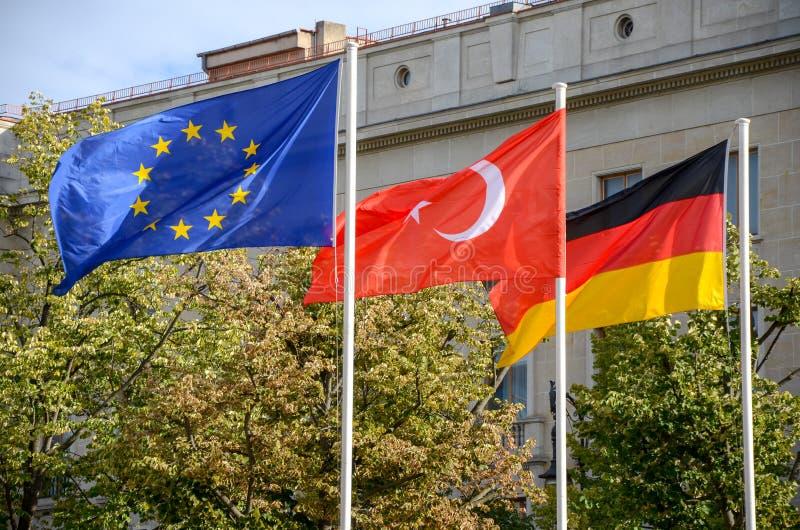 Dinde de l'Allemagne de trois drapeaux images libres de droits