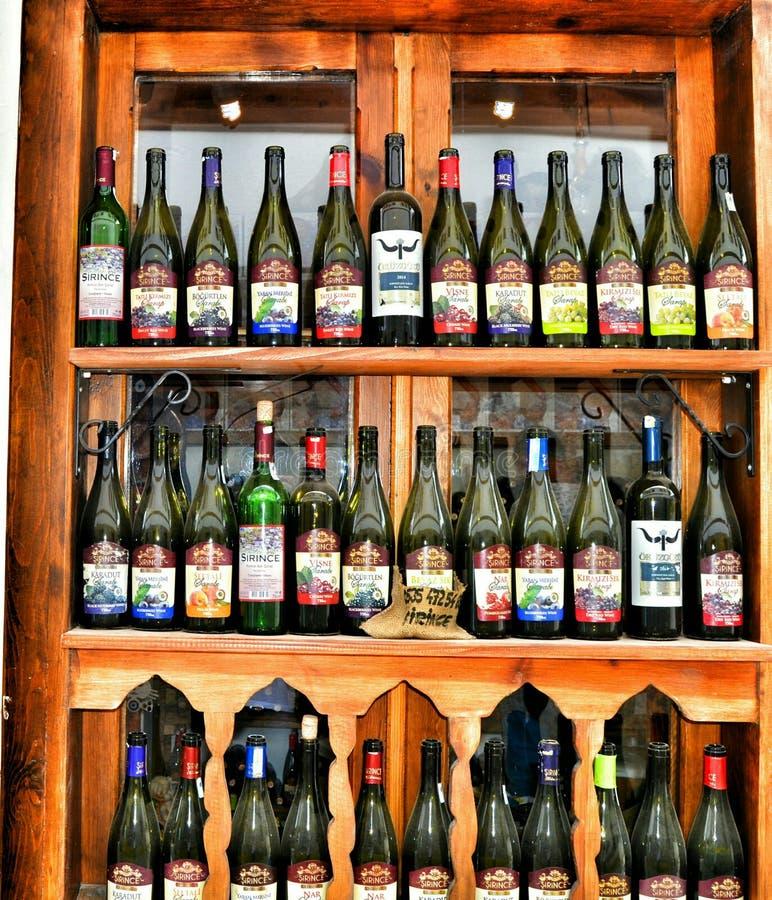 Dinde de mur de vin photos stock