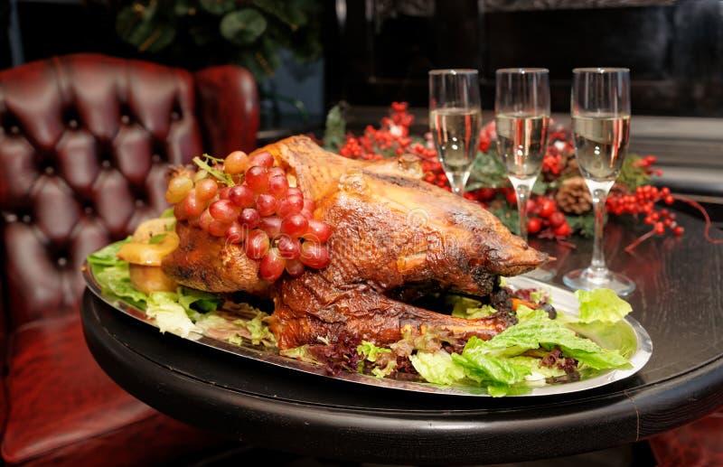 Dinde rôtie de thanksgiving image stock