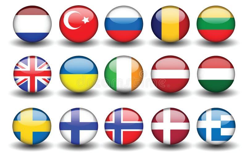 Dinde Russie Royaume-Uni Suède Finlande de drapeau illustration libre de droits