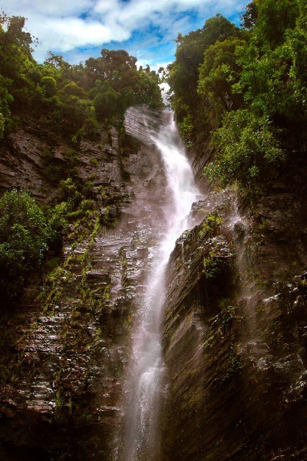 Dindifelo-Wasserfall in Senegal, Afrika stockfoto