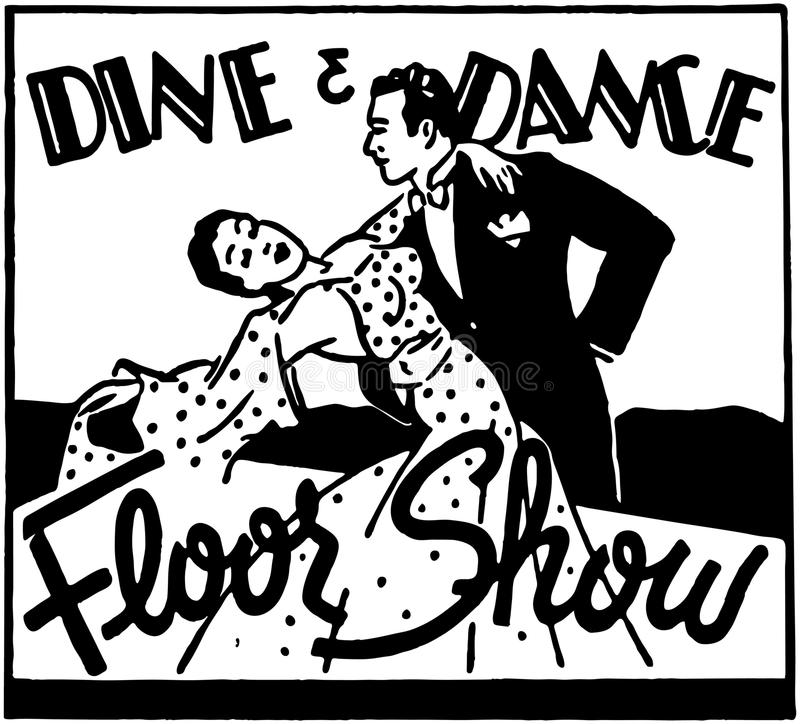 Dine And Dance Floor Show vector illustration