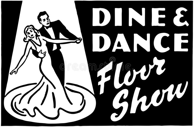 Dine And Dance Floor Show 3 royalty free illustration