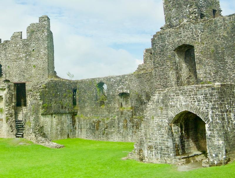 Age of the castle. Dinefwr Castle near Llandeilo Carmarthenshire Wales united Kingdom royalty free stock photo