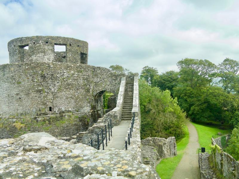 From the castle walls. Dinefwr Castle near Llandeilo Carmarthenshire Wales united Kingdom royalty free stock image