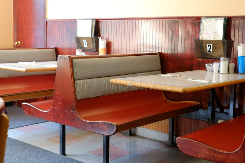 Diner Booths. Older Diner Booths at a New England Diner royalty free stock photo