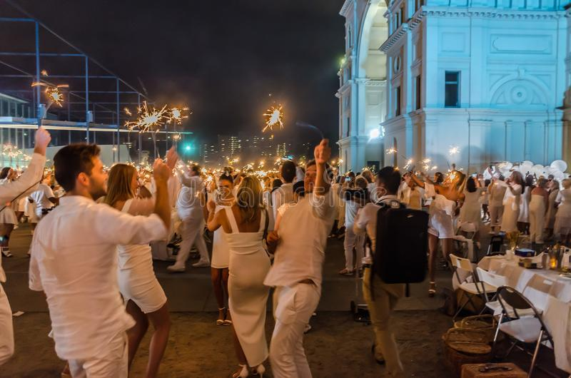 Diner En Blanc royalty free stock photos