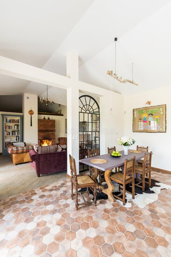 Diner et salon d'old-fashioned photographie stock