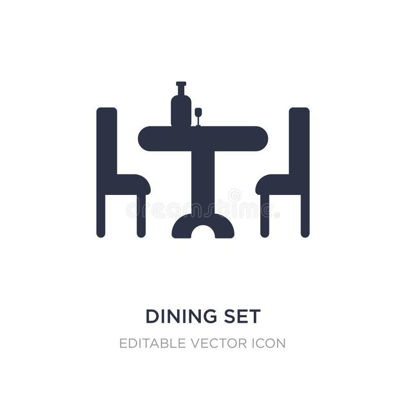 diner l'icône réglée sur le fond blanc Illustration simple d'élément de concept d'outils et d'ustensiles illustration de vecteur