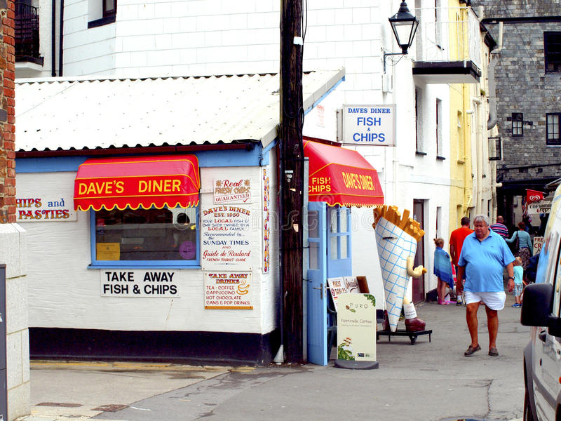 Diner, Looe, Cornwall. Editorial Stock Photo