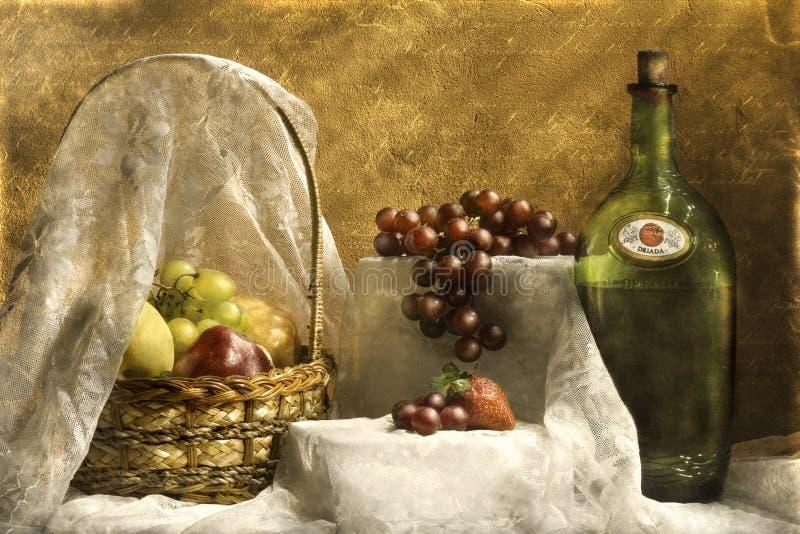 Diner met wijnstok stock foto's