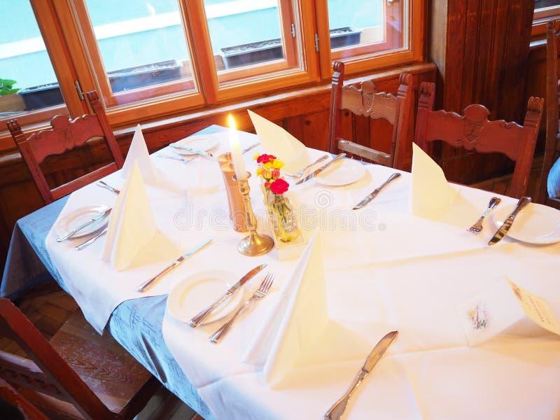 Diner in restaurant stock foto