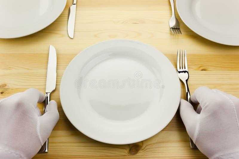 Diner serving  / crisis concept