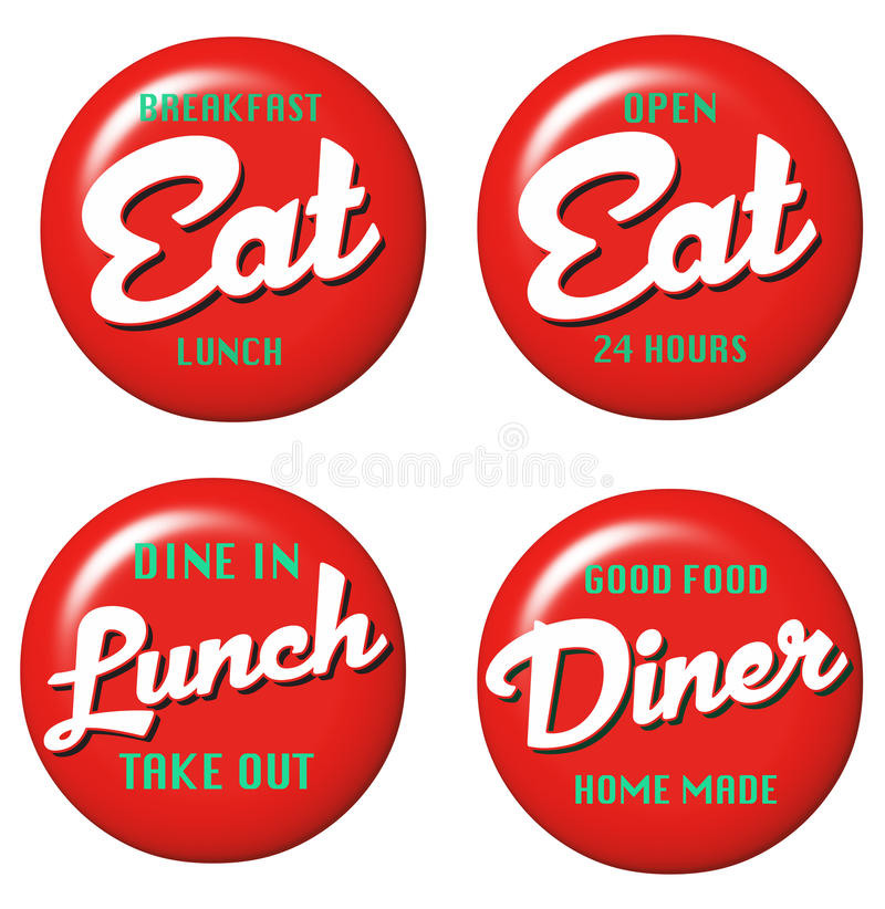 Diner Sign royalty free illustration