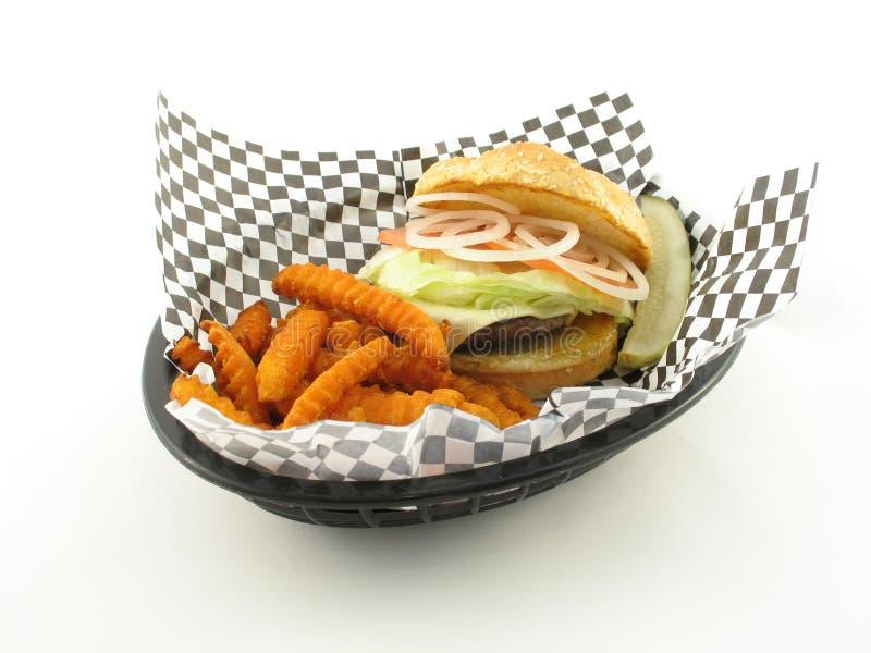 Diner stijlhamburger stock foto