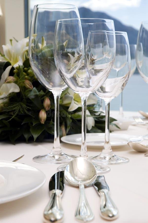 Diner van het huwelijk lijst royalty-vrije stock afbeeldingen