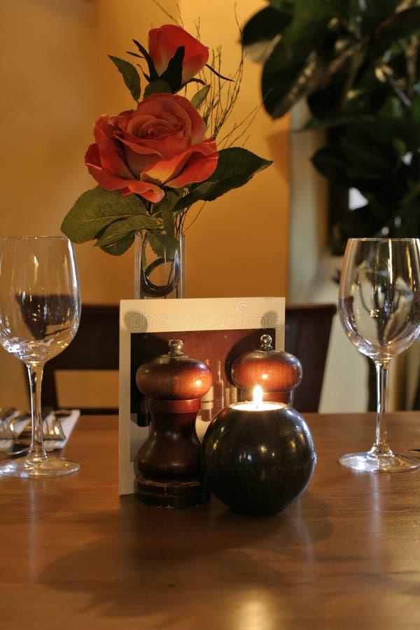 Diner voor 2 royalty-vrije stock afbeeldingen