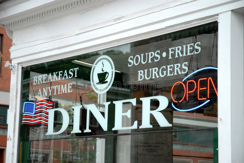 diner window στοκ εικόνες