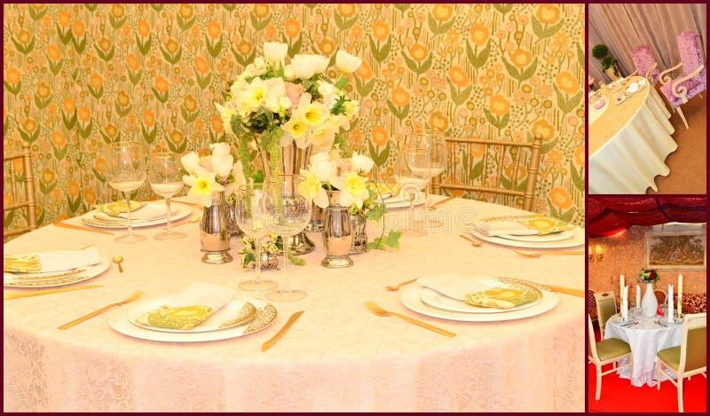Dinerlijst royalty-vrije stock foto's